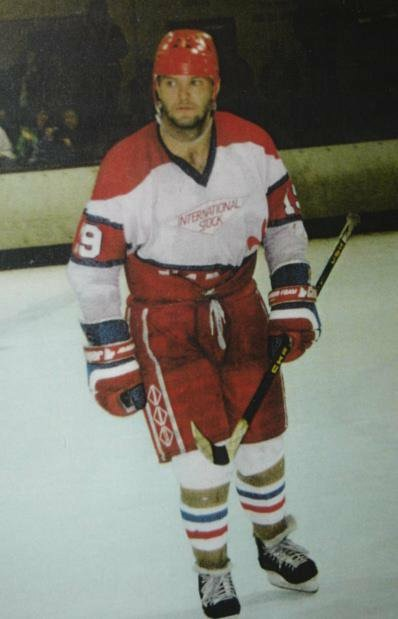 Brent Sapergia in his Solihull days circa 1991 63 points in 19 games was enough to addict me for life.  Oh, and the 121 penalty minutes!