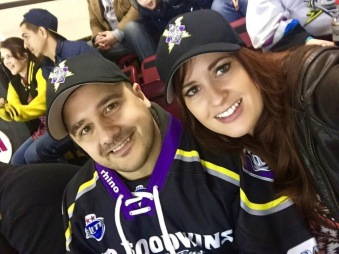 Manchester Storm fans kitted out for the big game